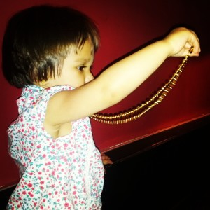harlem underground baby friendly restaurant, harlem beads, beading, eating out with baby. baby friendly toronto