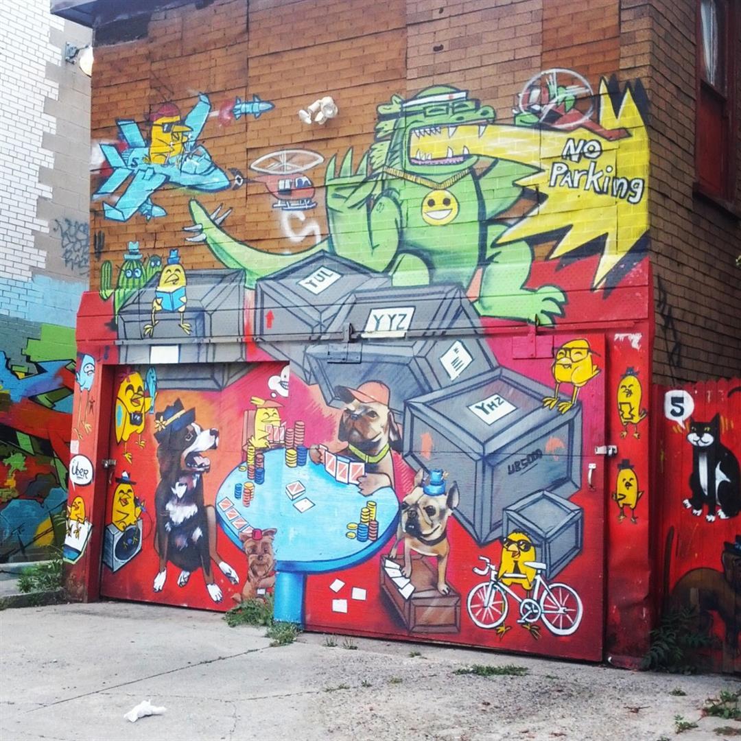Street art Toronto's Kensington Market