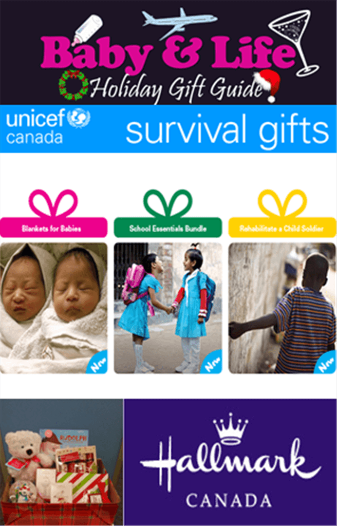 Unicef Survival Gifts, Hallmark Giveaway