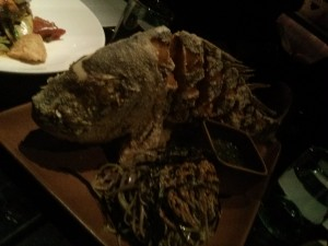 whole fried snapper for two