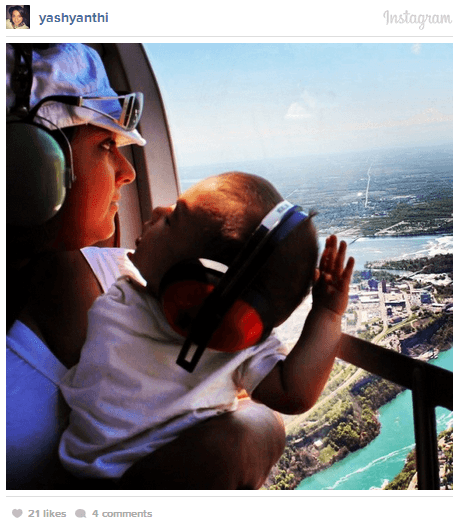 Niagara Helicopters with Baby