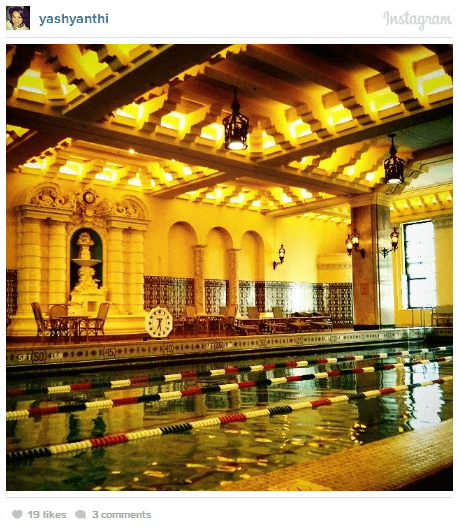 Intercontinental chicago pool, junior olympic pool