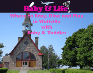 Wolffville Nova Scotia with baby, family travel