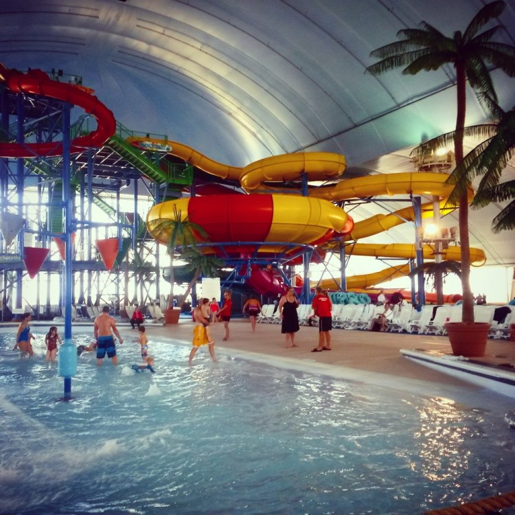 Fallsview indoor waterpark for a toddler