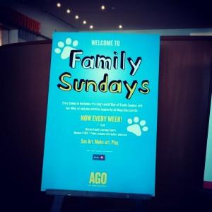 AGO Family Sundays, Family friendly toronto