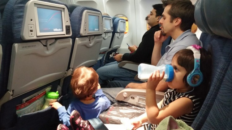 flying Air Canada with kids