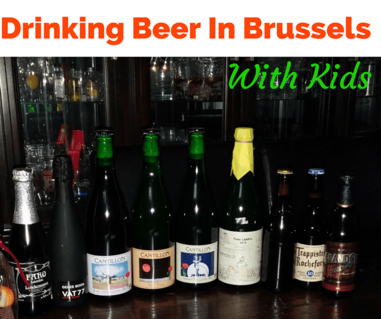 Drinking Beer in Brussels with kids