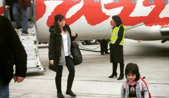 Flying Air Canada with Young Kids