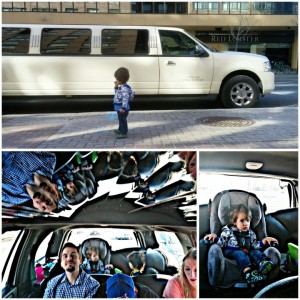 Limo with kids