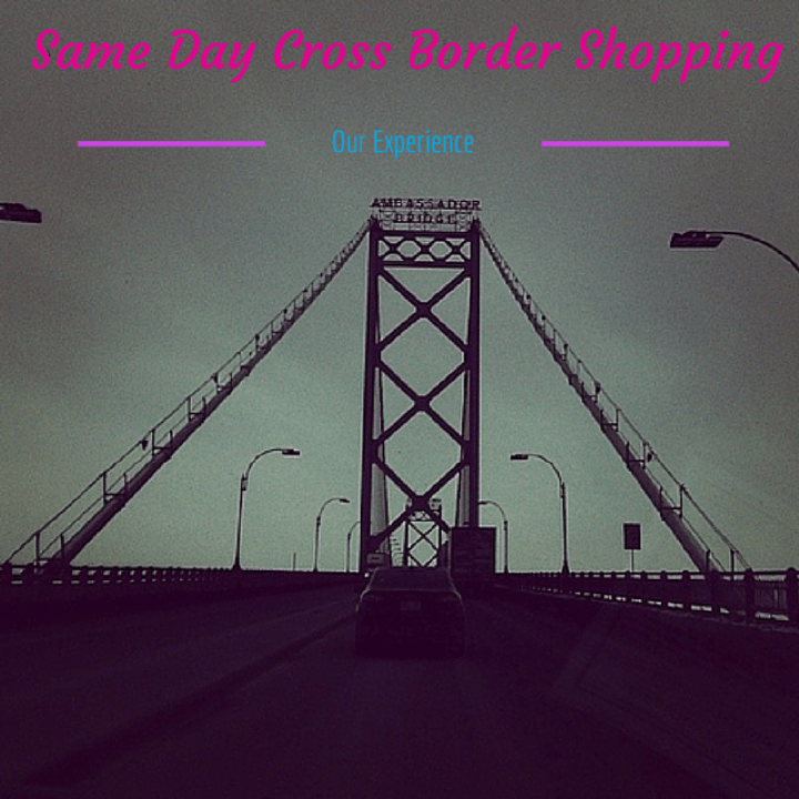 Same day cross border shopping