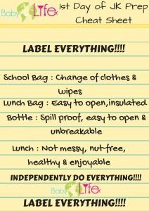 Junior kindergarten cheat sheet