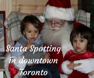 Santa Spotting in Downtown Toronto
