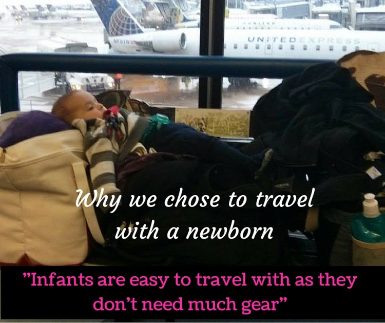tips for traveling with a newborn