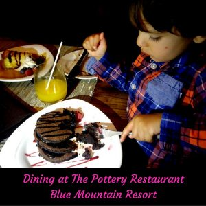 Dining at The Pottery Restaurantin Blue Mountain