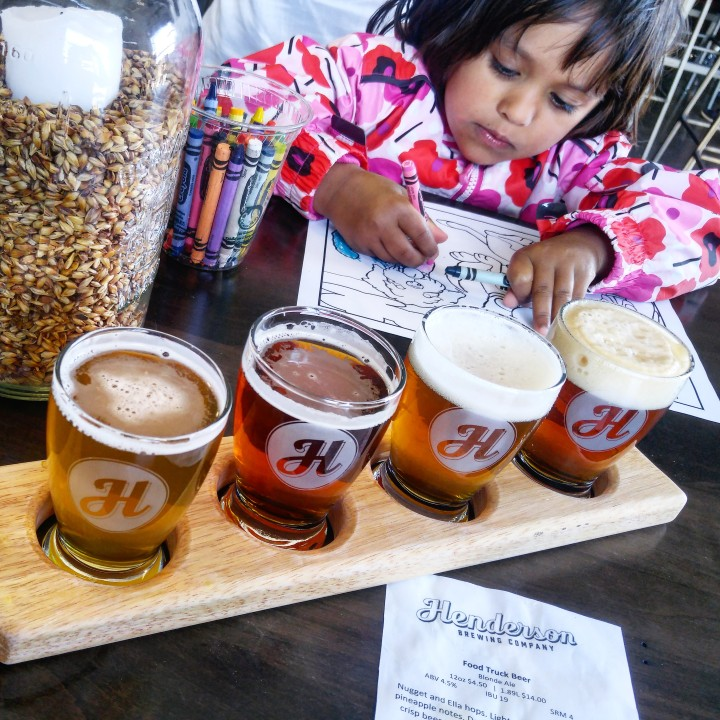 drinking beer in toronto with kids