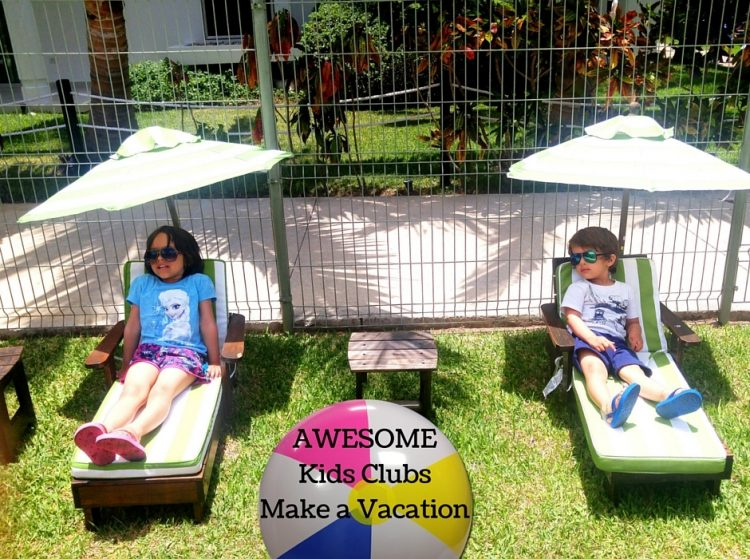 resorts with awesome kids clubs, azul fives with kids, kid friendly all inclusive resorts