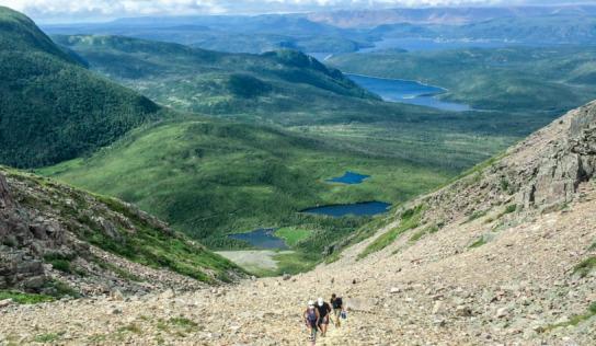 Climbing Gros Morne Mountain