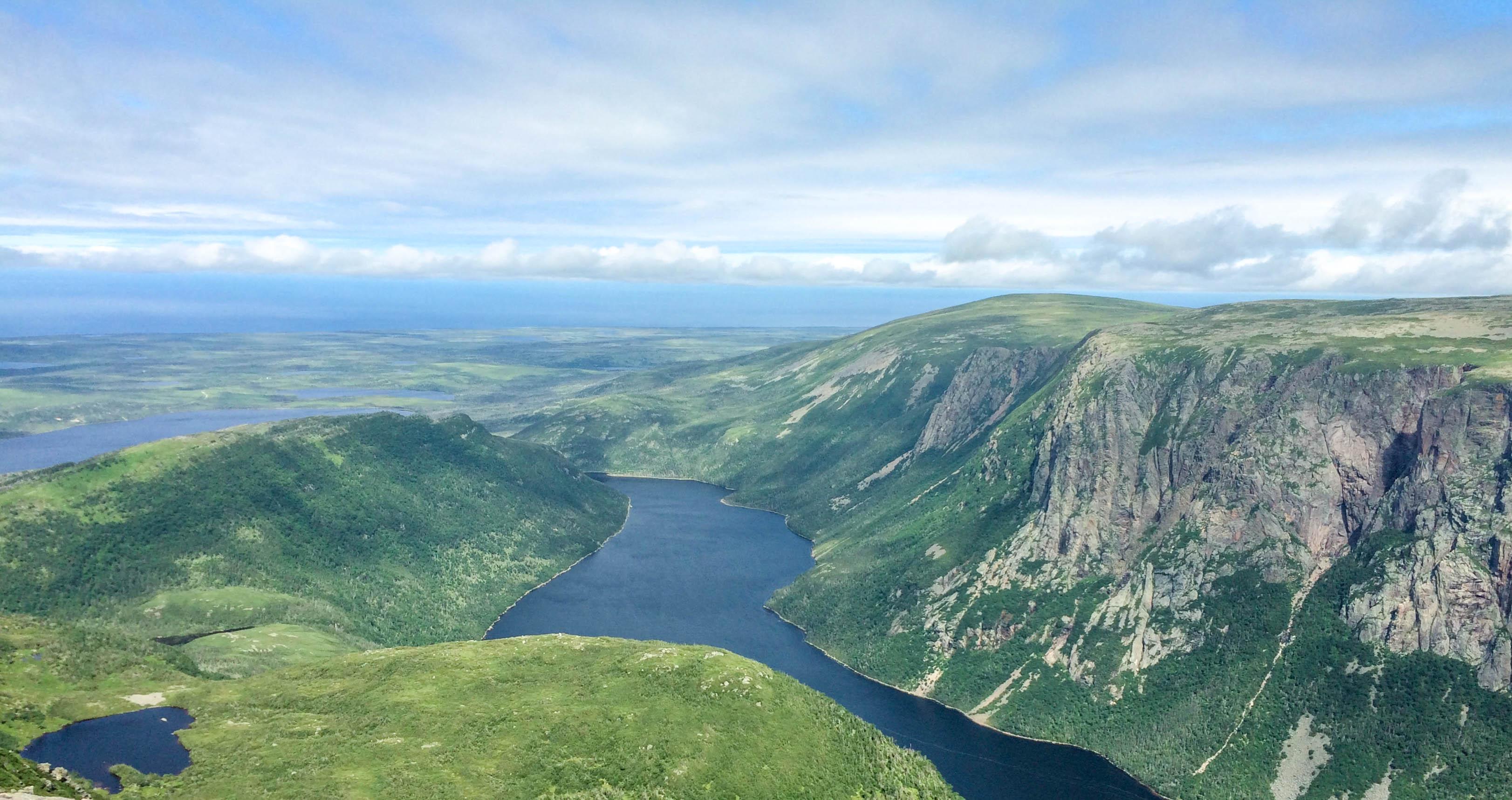 View of Ten Mile Pond on Gros Morne Mountain
