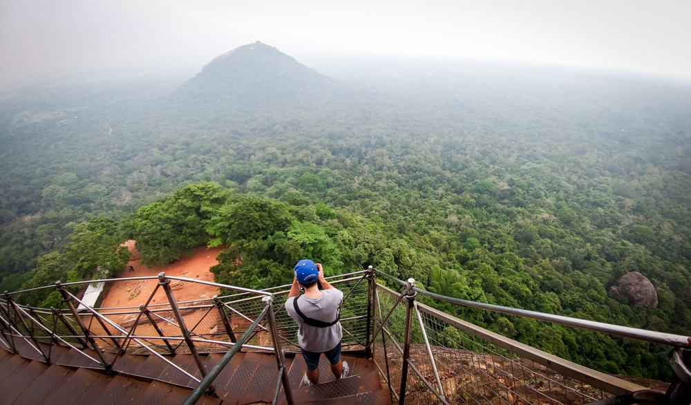 View from the top of the Sigiriya Rock Fortress