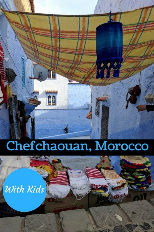 Chefchaouan with kids