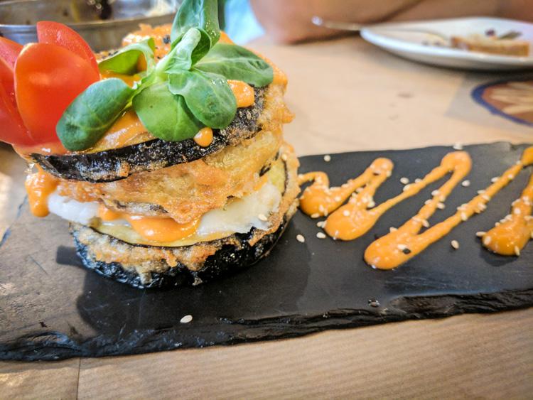 Eggplant and Cod Tower at La Bartola