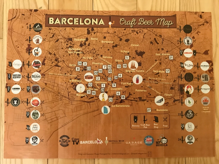 Barcelona Beer Map Side 2