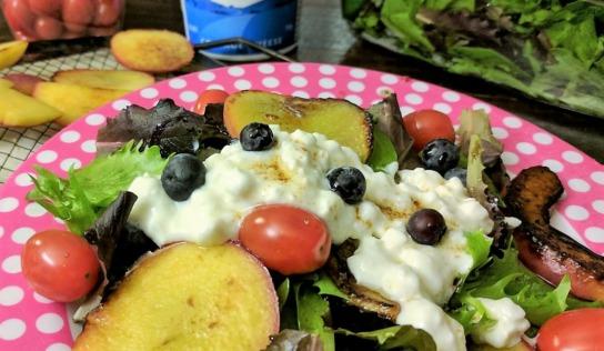 Grilled Fruit Salad #BornOnTheFarm