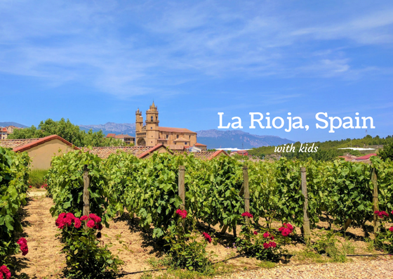 Spanish winery with kids