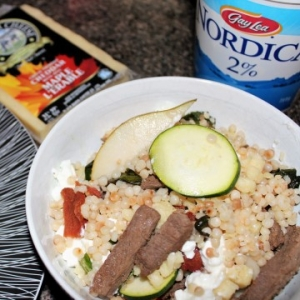 Easy Israeli Couscous Dinner #BornOnTheFarm