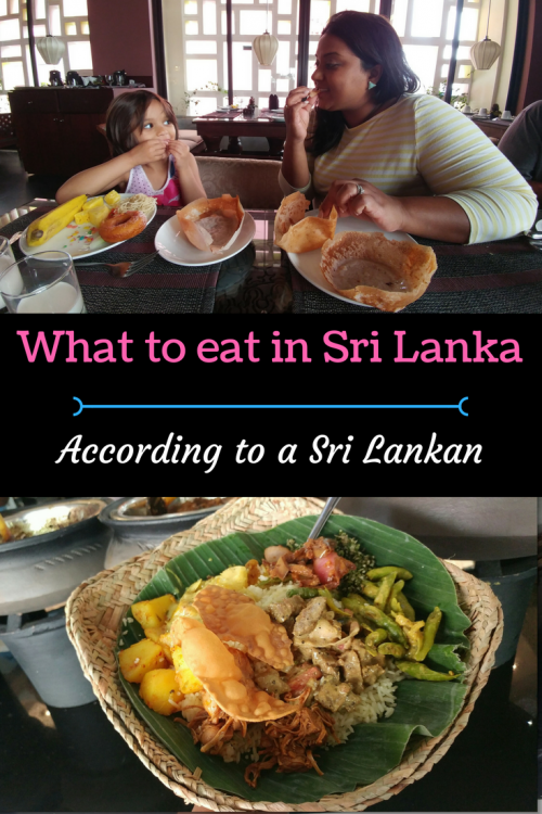 Sri lankan food guide