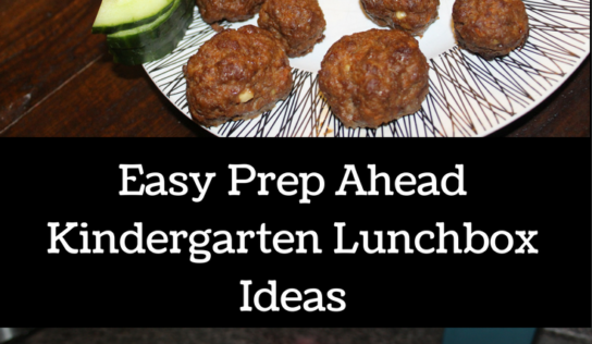 Easy Prep Ahead Kindergarten Lunchbox Ideas | Giveaway