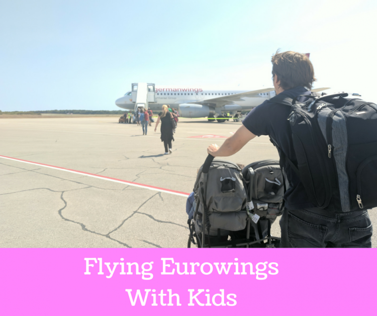 Eurowings with stroller