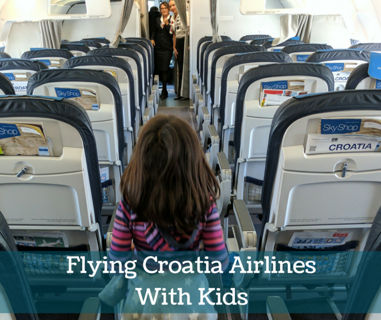 flying croatia airlines with kids