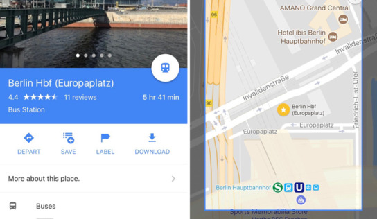 Using Google Maps Offline While Travelling