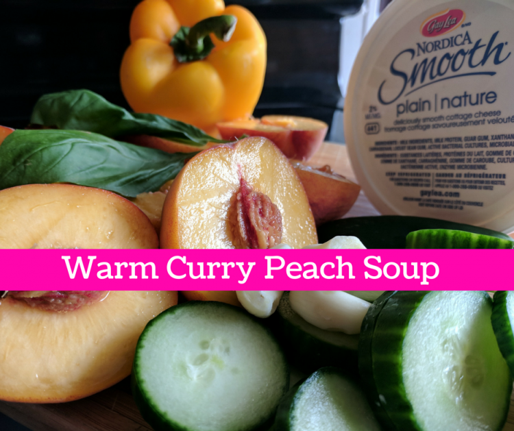 warm Curry peach soup