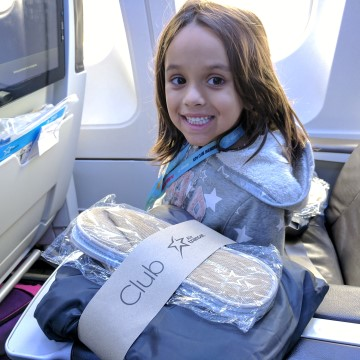Air Transat with kids