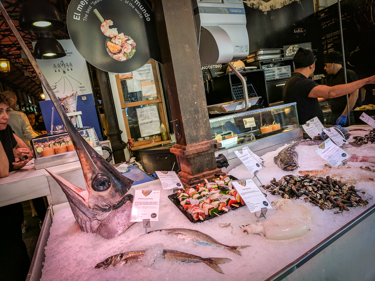 Swordfish head at Mercado de San Miguel