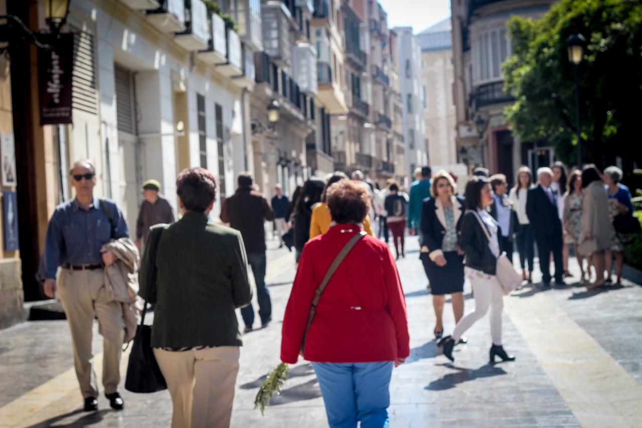 pedestrian only street in Málaga