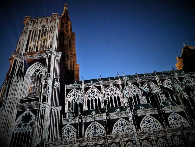 Notre Dame Cathedral strasbourg lightshow