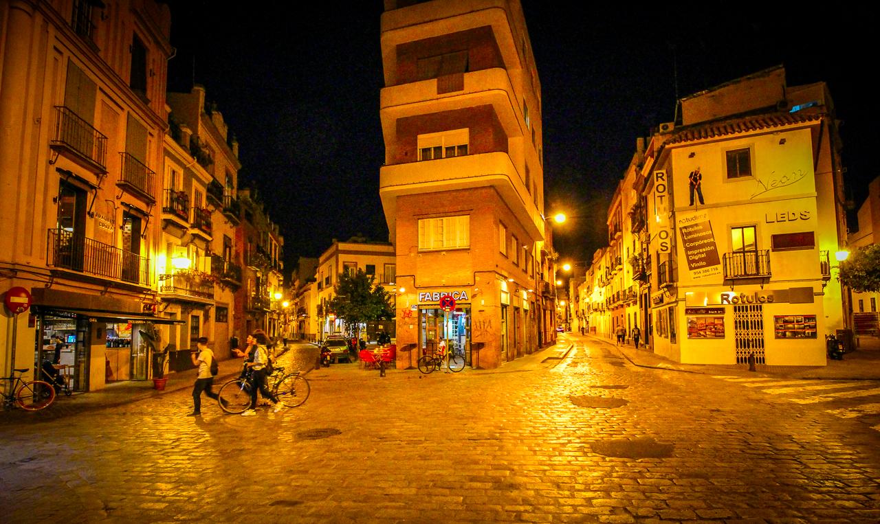 Seville Streets at Night