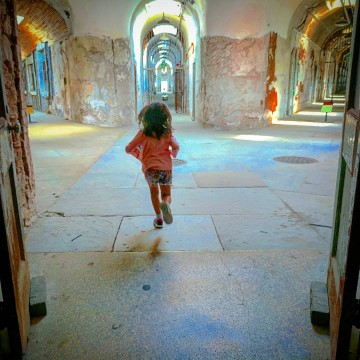 Eastern State Penitentiary with kids