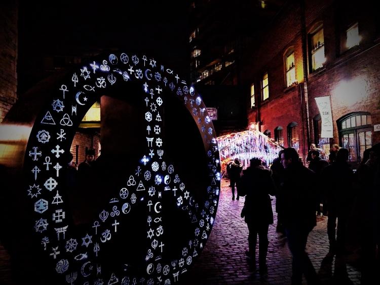 Toronto light festival with kids