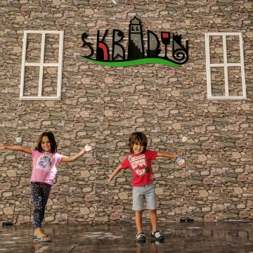 Skradin with kids