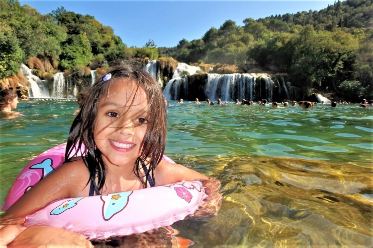 krka with baby