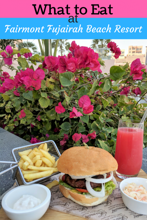 Food at the Fujairah Beach Resort, Best kid friendly resort in UAE
