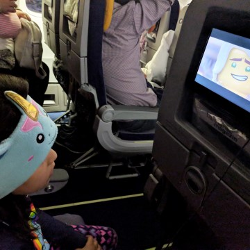 flying Lufthansa with kids