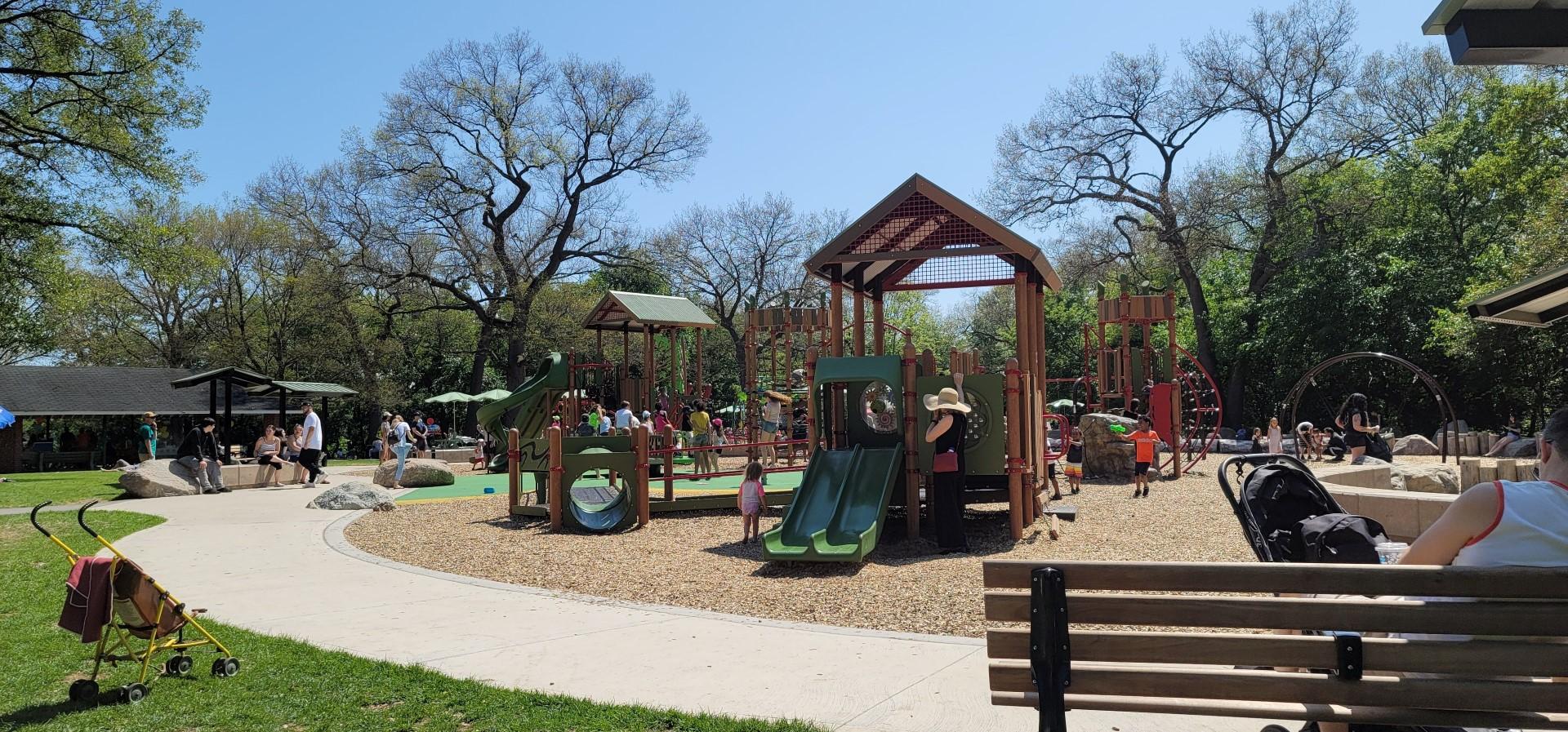 playground at high park with kids running around