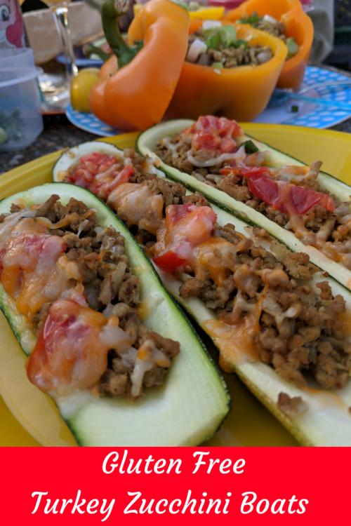 gluten free moroccan turkey zucchini boats. Paleo