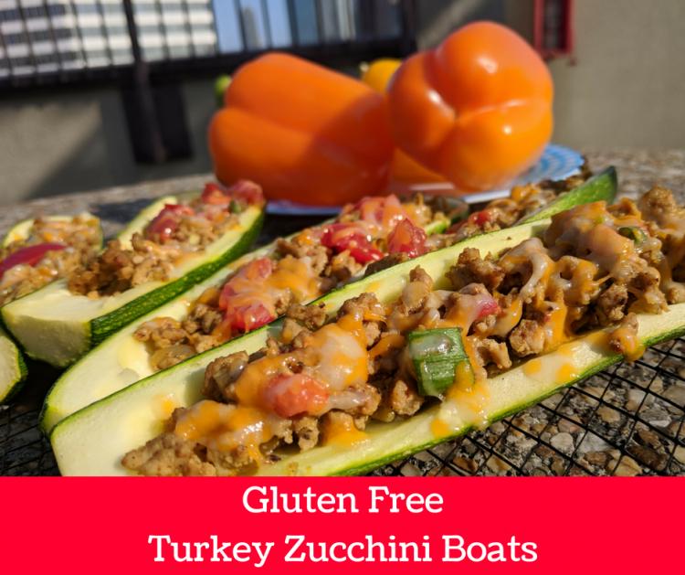 moroccan turkey zucchini boats