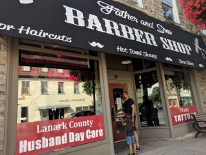 father son barber